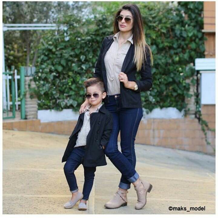Cute Mother Son Outfit Ideas 7