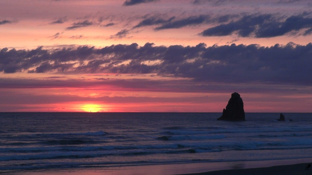 Oregon Canon Beach sunset via Stock Photos For Free