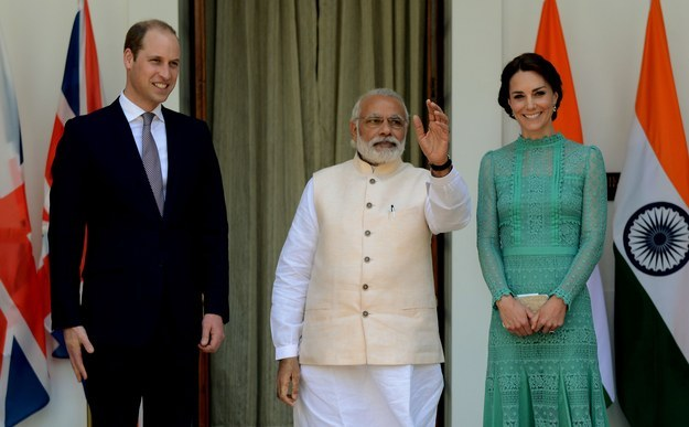 Prince William and Kate Middleton in India WIth Narendra Modi