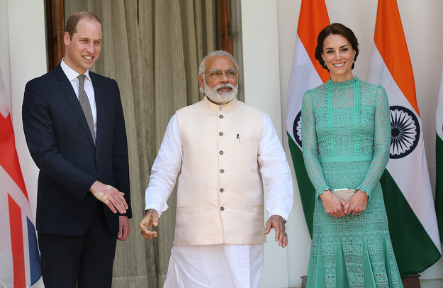 Prince William in India Shaking Hands WIth Narendra Modi 2