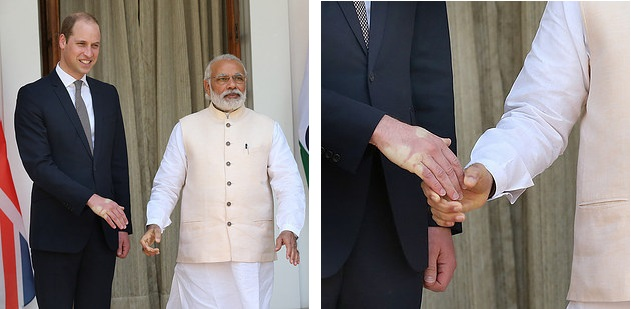 Prince William in India Shaking Hands With Narendra Modi 3