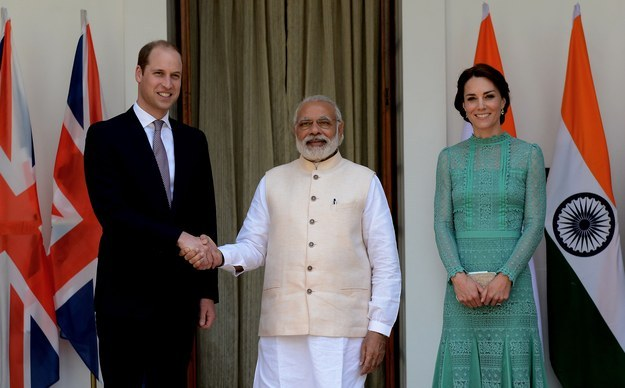 Prince William in India Shaking Hands WIth Narendra Modi