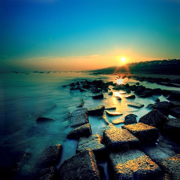 Sunset at Patenga beach Via Can We Image