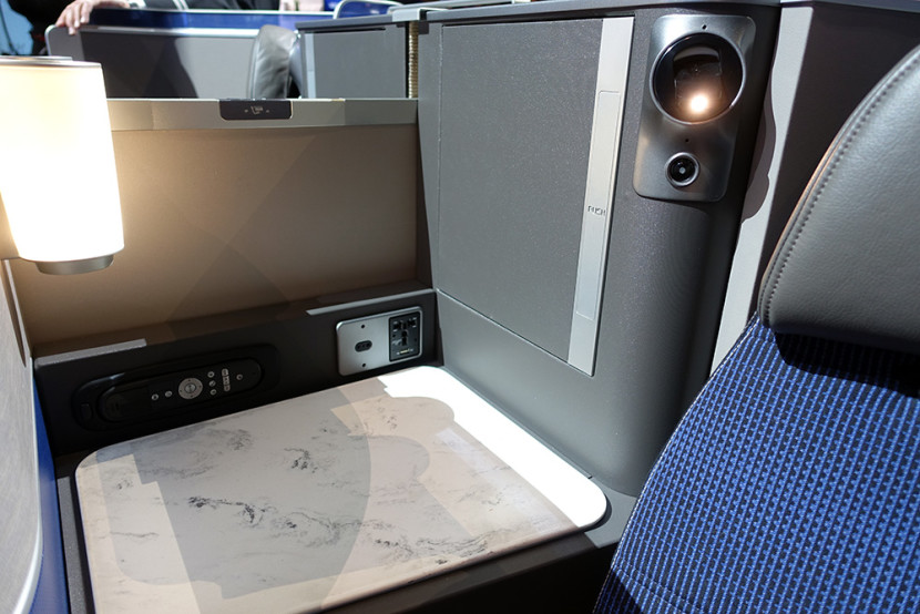Business class seats in United