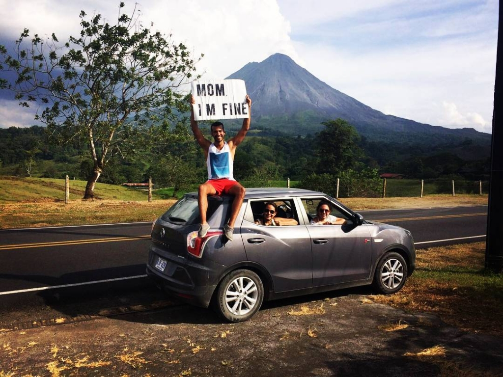Guy Travels With Mom I Am Fine Sign In Costa Rica
