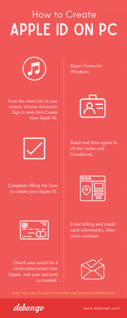 How to Create Apple ID on PC - Debongo.com