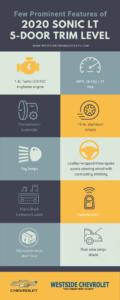 Few Prominent Features of 2020 Sonic LT 5 Door Trim Level Infographic Westside Chevrolet