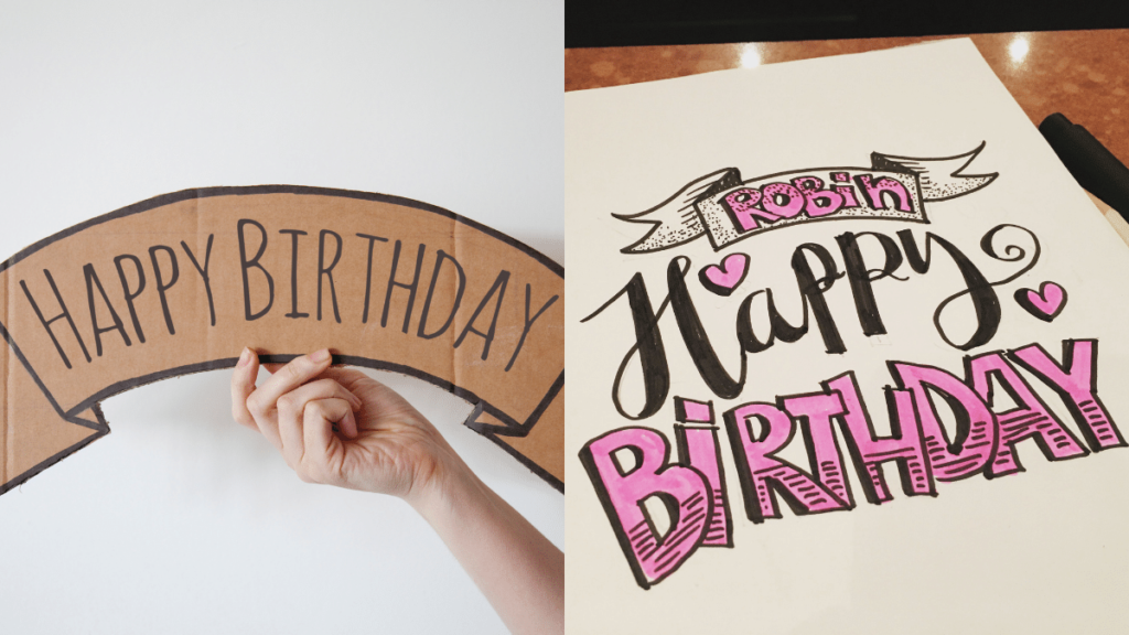 Handmade/Drawn Birthday Banner - Debongo