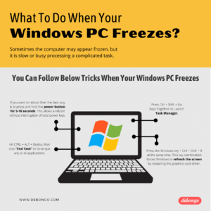 What To Do When Your Windows PC Freezes Infographic - Debongo