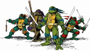 Teenage Mutant Ninja Turtles Cartoon Debongo