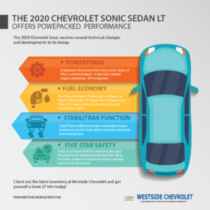 The 2020 Chevrolet Sonic Sedan LT Offers Powepacked Performance